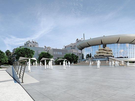 כיכר אתרים / הדמייה: באדיבות משרד מוריה סקלי אדרכלי נוף
